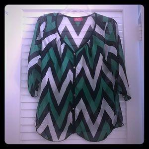 Shasa sheer blouse